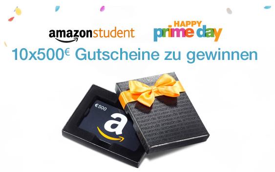 Amazon Prime Day Gutscheine zu gewinnen