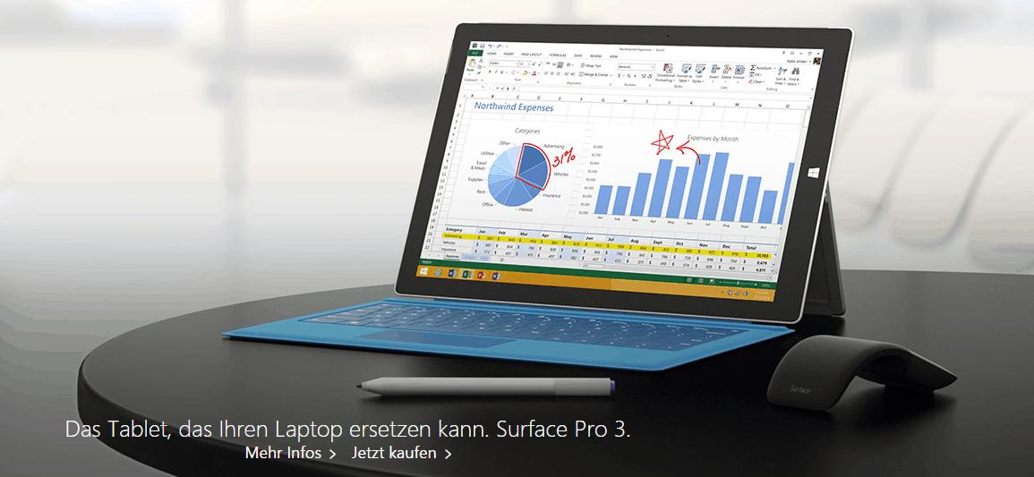 Das Tablet, das den Laptop ersetzen kann - Microsoft Surface 3