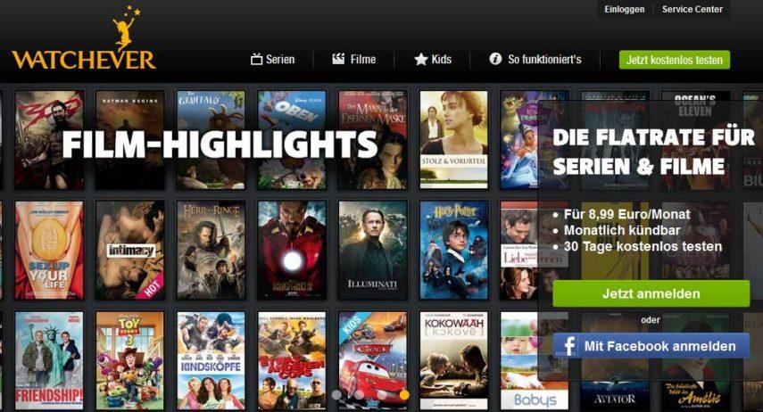 Watchever Filme-Highlights