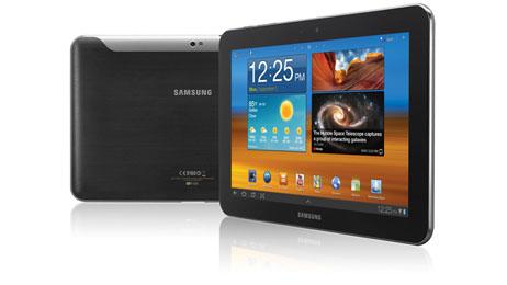 Samsung Galaxy Tab 10.1 Frontansicht und Rückansicht