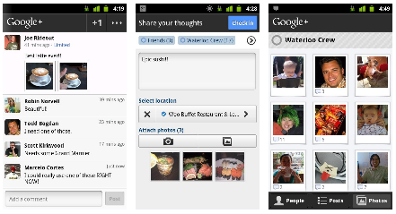 Android Apps - Google+