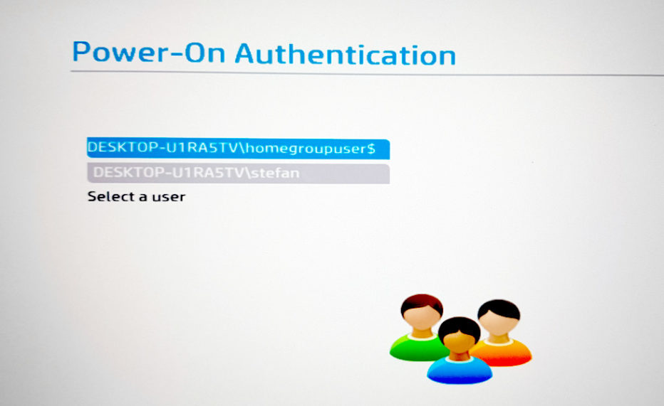 Power-On-Authentication