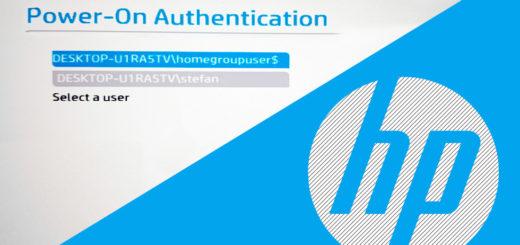 Power-On-Authentication deaktivieren