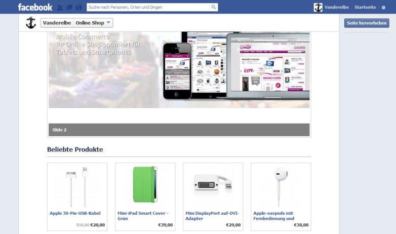 SEOshop: Facebook-Anbindung