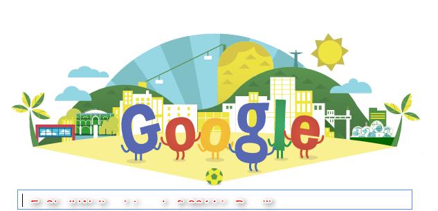 Fußball Weltmeisterschaft 20014 Google Doodle