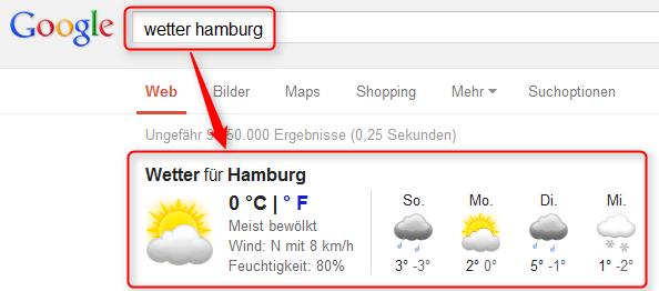 Aktuelles Wetter in Hamburg