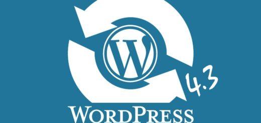 WordPress Update 4.3