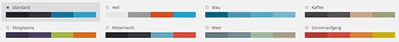 WordPress Farbschema
