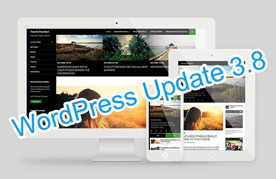 WordPress Update 3.8