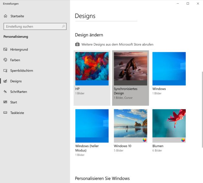 Windows 10 Designs