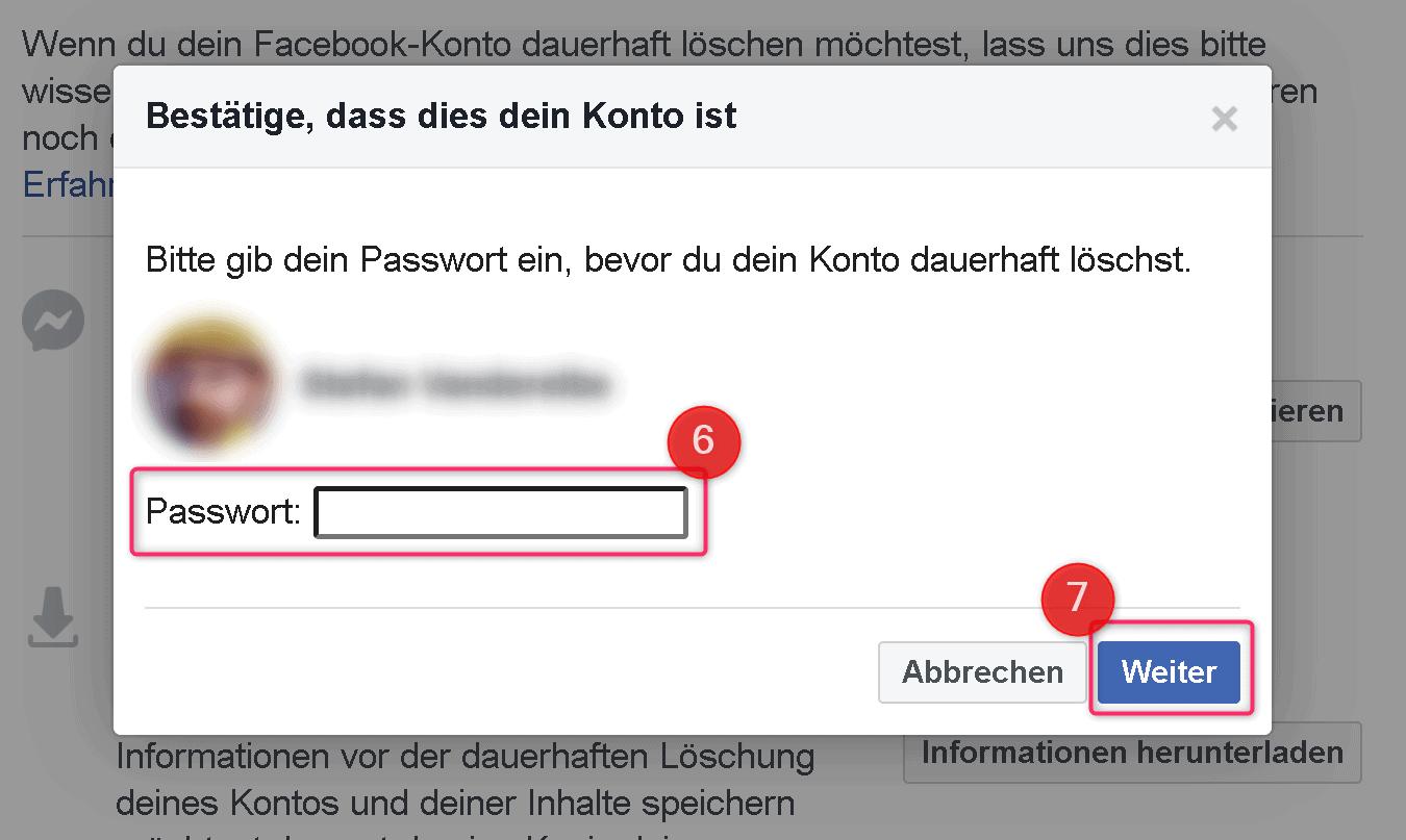 Facebook löschen Anleitung