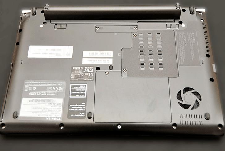 Toshiba Satellite R630-14x Boden